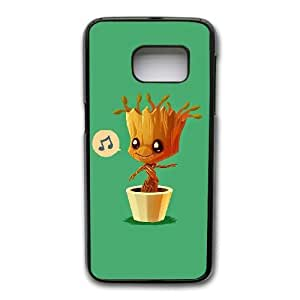 Wunatin Hard Case ,Samsung Galaxy S7 Cell Phone Case Black I Am Groot [with Free Tempered Glass Screen Protector]BA--95949