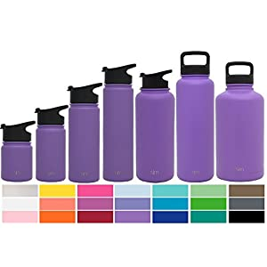 Simple Modern 32oz Summit Water Bottle + Extra Lid - Vacuum Insulated Stainless Steel Wide Mouth Lit