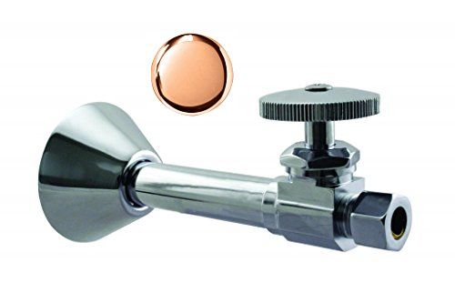 Westbrass D1114-10 Straight Stop - 1/2 in. Copper Sweat x 3/8 in, Polished Copper - Polished Copper Straight Stop