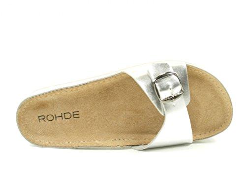 Mules Silber Femme Silber Rohde Riesa 1w8K5qR7