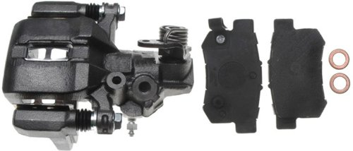 Driver 01 Prelude Rear Honda - ACDelco 18R1243 Professional Rear Driver Side Disc Brake Caliper Assembly with Pads (Loaded), Remanufactured