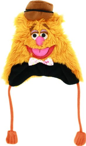 Disney Men's Fozzie Faux Fur 3D Peruvian Hat, Orange, One Size]()
