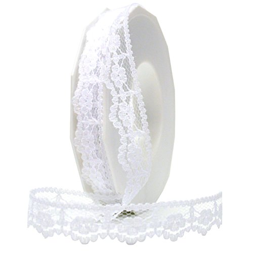 Morex Ribbon Mia Lace Ribbon, 3/8 by 20-Inch, - Lace Morex Ribbon
