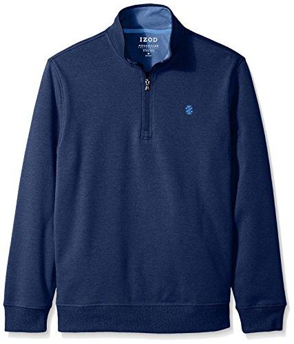 IZOD Men's Advantage Performance Solid 1/4 Zip Fleece, True Blue, XX-Large - Advantage Pullover
