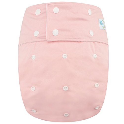 Happy Endings Teen / Adult Stain Resistant Snap Closure Reusable Cloth Diaper Incontinence - Pink