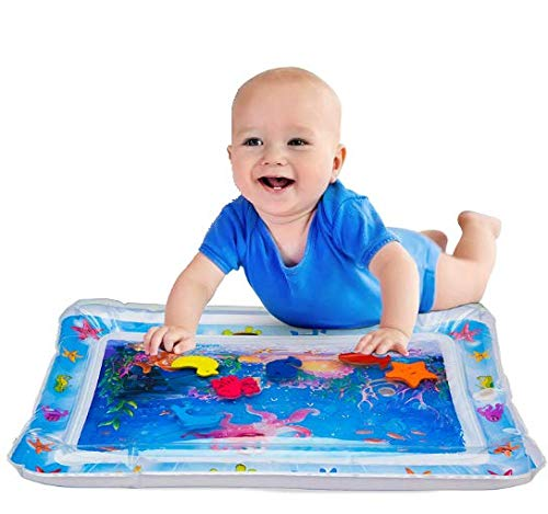 (2019 Upgraded) Inflatable Tummy Time Premium Water Play mat Infants & Toddlers is The Perfect Fun time Play Activity Fun Center Your Baby's Stimulation Growth. Amazing Kid