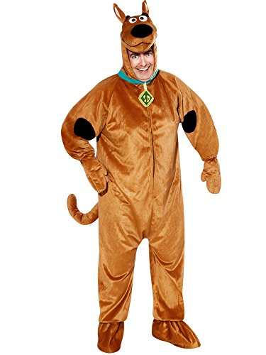 Scooby-Doo Deluxe Adult Costume, Scooby, One -