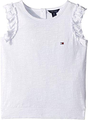 Tommy Hilfiger Kids Girl's Ruffle Sleeveless Knit (Big Kids) White ()