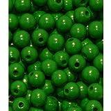 110 Holzperlen 6mm grün speichelfest & schweißecht Made in Germany