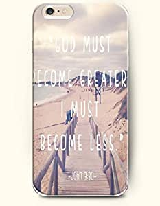 iPhone Case,OOFIT iPhone 6 (4.7) Hard Case **NEW** Case with the Design of GOD MUST BECOME GREATER, I MUST BECOME LESS, JOHN 3:30 - Case for Apple iPhone iPhone 6 (4.7) (2014) Verizon, AT&T Sprint, T-mobile