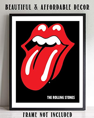"The Rolling Stones Band- Poster Print""Greatest Hits Album Cover""- 8 x 10"" Wall Print-Ready To Frame- Vintage Tongue. Home-Studio-Bar-Dorm-Man Cave Decor. Perfect For All Rolling Stones Fans."