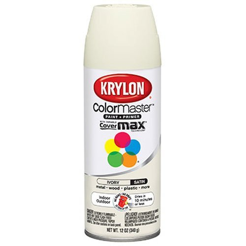 Krylon K05351002 Satin Ivory 'Satin Touch' Decorator Spray Paint - 12 oz. Aerosol -