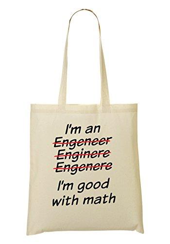 I'M An Engineer Enginere Engenere I'M Good Math Bolso De Mano Bolsa De La Compra