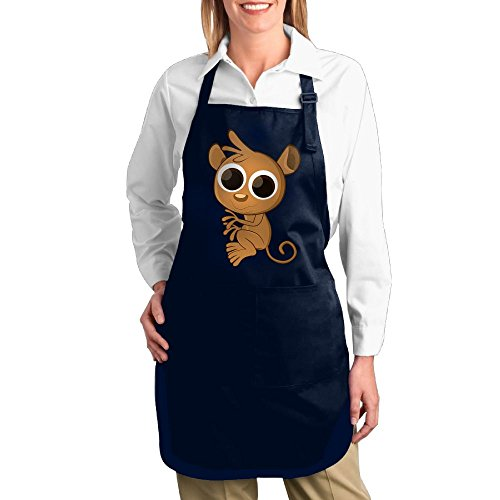 Old Navy Girl Monkey Costume (Dogquxio Glasses Monkey Kitchen Helper Professional Bib Apron With 2 Pockets For Women Men Adults Navy)