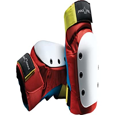 Pro-Tec Street Knee Pads [Youth] Retro Red/Blue/Yellow : Skate And Skateboarding Knee Pads : Sports & Outdoors