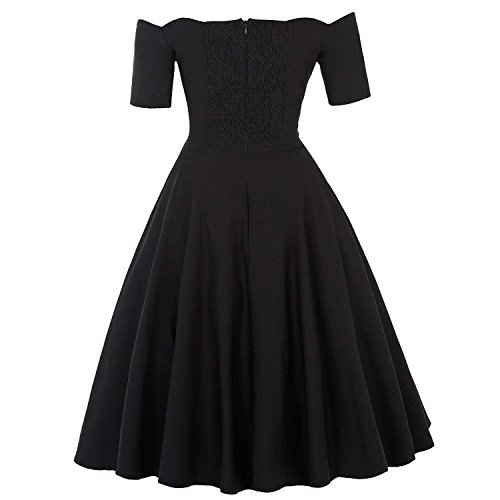 Sexy Off Shoulder Autumn Rockabilly Pinup Wiggle 50s Vintage Dress Vestido at Amazon Womens Clothing store: