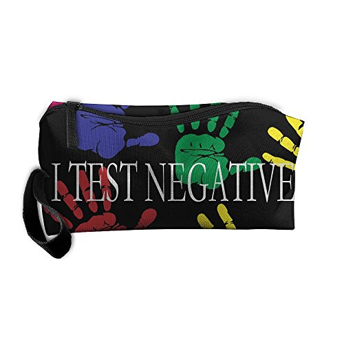 I Test Negative 3D Printing Zipper Closure Cosmetic Novelty Pencil Pen Case Travel Bag Tote For - Test Glasses New 3d