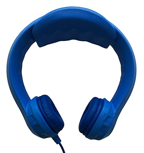 Kidrox Wired Kids Headphones | Volume Limited with Padded Cushions and Removable Size-adjuster | Safe for Children (Blue)