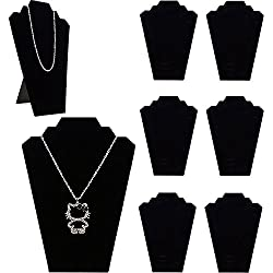 Adorox Black Velvet Padded Necklace Easels Jewelry Display Showcase Tower Stand (6)