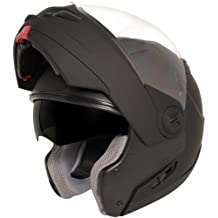 Hawk ST-1198 Transition 2 in 1 Flat Black Modular Helmet - Large