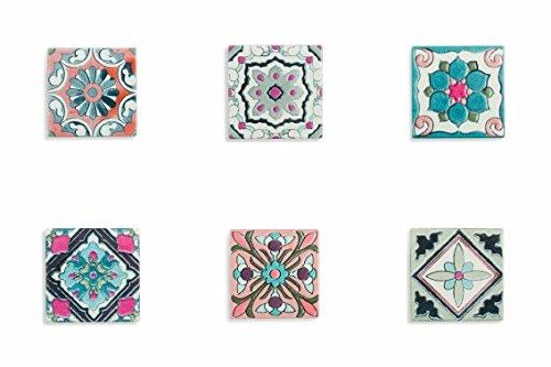 2 opinioni per Villa d'Este Home Tivoli Poggiami Sottopentola Quadrato, Ceramica, Multicolore