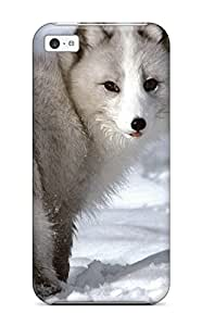 High Impact Dirt/shock Proof Case Cover For Iphone 5c (arctic Foxes )