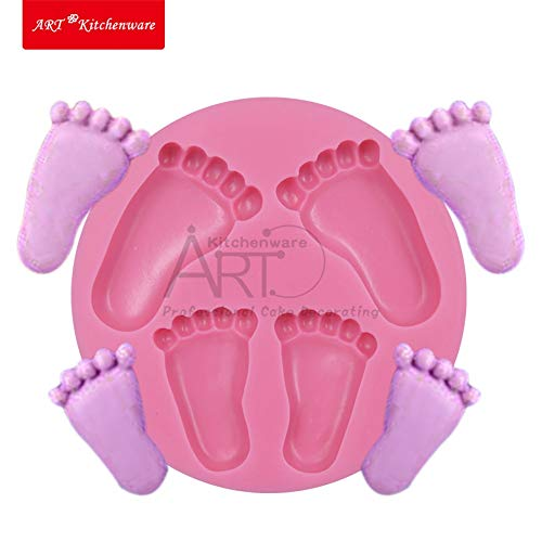 1 PC Lovely Foot Baby Soap Mold Fondnt Silicone Mould Candle Mold Resin Flexible Craft Mold Tools Forma de Silicone Bakeware SM-300