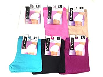 Lot de 6 Boxer Femme 100% Coton avec Stretch Couleur Assorties!!! ( 64d0843e9e24