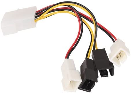 3 pines convertir a ventilador 2Pin 2 x 12 V 2 x 5 V cable divisor ...