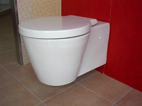 Duravit Wand WC (ohne Deckel) Starck 1 Tiefspüler, weiß wandhängend ...