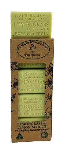 - Australian Botanical Soap - 7 oz. (200g) Bars, Lemongrass & Lemon Myrtle Natural Plant Oil Soap, 8 Count