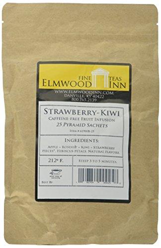 (Elmwood Inn Fine Teas, Strawberry Kiwi Caffeine-Free Fruit Infusion, 25 Pyramid Sachet Tea Bags)
