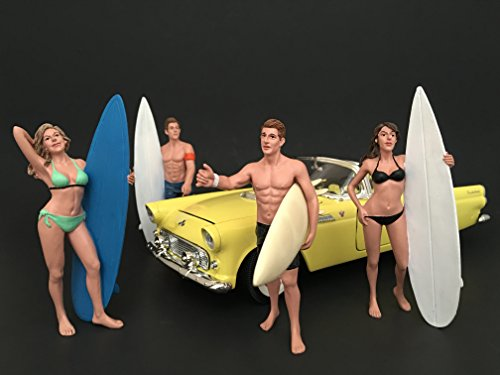 Surfers 4 Piece Figure Set For 1:24 Scale Models by, used for sale  Delivered anywhere in USA