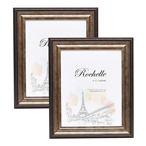 Frame Tray Photo - 8x10 Picture Frame Antique Brown - 2-Pack Frames by EcoHome
