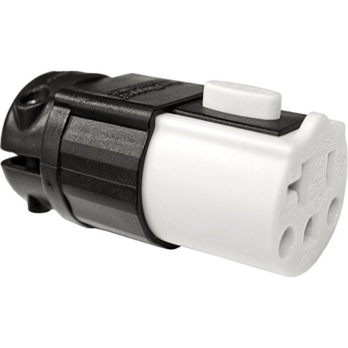 Serpentec 630-20AREPLEND Lighted Locking Outdoor Extension Cord Replacement End, White and ()