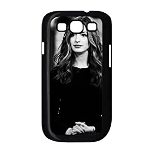 Samsung Galaxy S3 Case, Pattern American Actress Anne Hathaway (2) Case for Samsung Galaxy S3 {Black}