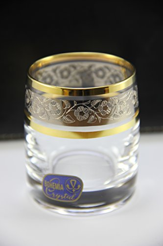 by Bohemia 2oz/60ml Heavy Base Shot Glass Set of 6 for Whisk