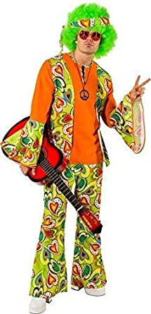 1960s 1970s Groovy Hippy hippie Mens Fancy Dress Stag Party Costume Outfit
