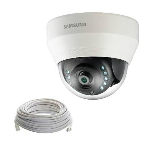 - Samsung SDC-9410DU Full HD Indoor IR Dome Camera, 2MP, Day & Night Modes, Night Vision Up to 26', 3.6mm f/1.8 Lens, Digital Noise Reduction, White