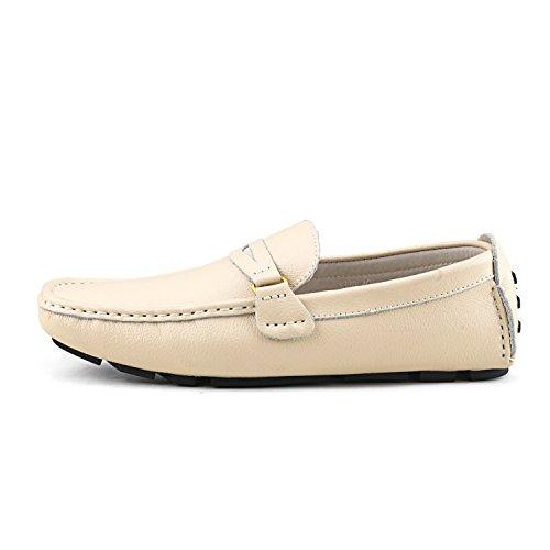 Mocassins Beige Shenduo Homme pour Confort Cuir Ville D3328 de Chaussures Loafers Hw1BdwOq