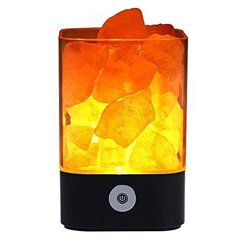 Himalaya Salz Lampe, natürliche rosa Kristallsalz Lampe, bunte Nachtlicht, Dimmer Control, Luftreinigende Ionic Natural Salz Kristall Lampe, beste Geschenkidee zoeson