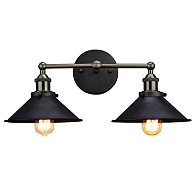 CLAXY Industrial Bronze 2-Light Wall Sconce