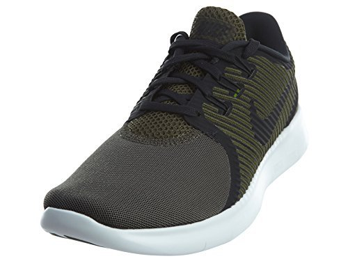 Nike Free RN Commuter Lightweight Sneakers Durability Comfortable Men's Running Shoes (8 M US, Cargo Khaki/Off White/Black 300) by NIKE
