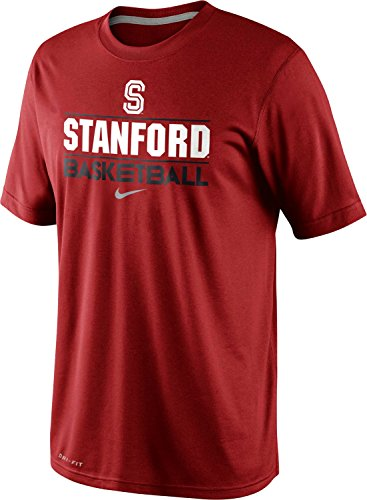 Nike Stanford Cardinal Basketball Team Issue Practice Dri-FIT T-Shirt (Large, Team Crimson Red)
