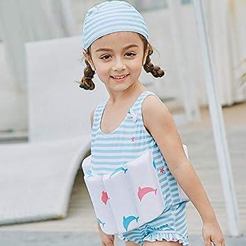 Tabithaolyeo Trajes de Flotador para niñas Traje de baño de una Pieza Flotabilidad Trajes de baño Desmontables para niños Entrenamiento de natación ...