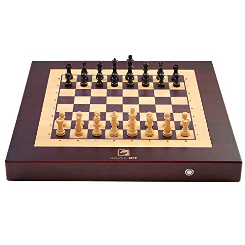 Square Off Chess Set - an Electronic Chessboard, which Moves The Opponent's Wooden Chess Pieces on its Own. Kids or Adults can Play Against The AI or Any Online Chess Player Across The Globe. (Best Single Board Computer 2019)