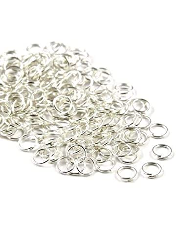 50 x 8mm Antique Silver Plated Open Jump ring Connector Finding FREE UK P+P L28