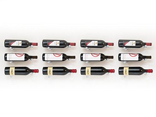 - 12 Bottle Vino Pin Designer Kit with Collars in Silver