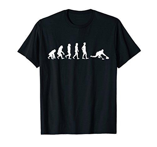 Evolution of Curling Funny Sport T-Shirt