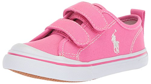 Polo Ralph Lauren Kids Girls' Karlen EZ Sneaker, Baja Pink, 5 Medium US Toddler